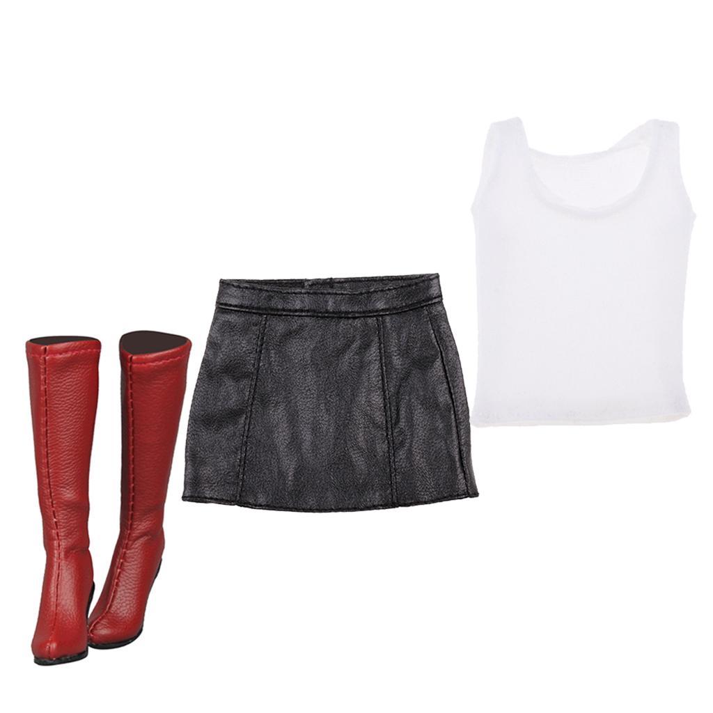 Cy 1//6 Phicen Kumik Hot Toys Female Black /& White Stripes Mini Dress NT