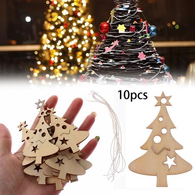 Ornaments Wood DIY Crafts Wooden Slice Xmas Tree Merry Christmas Wood Pieces