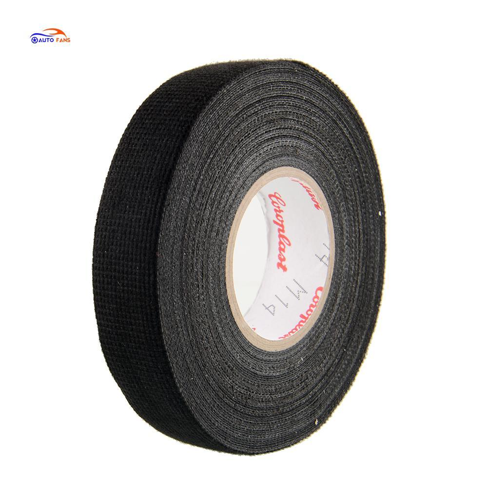Hot 1x Adhesive 19mmx15M Cloth Fabric Tape Wiring For Car Auto Vehicle