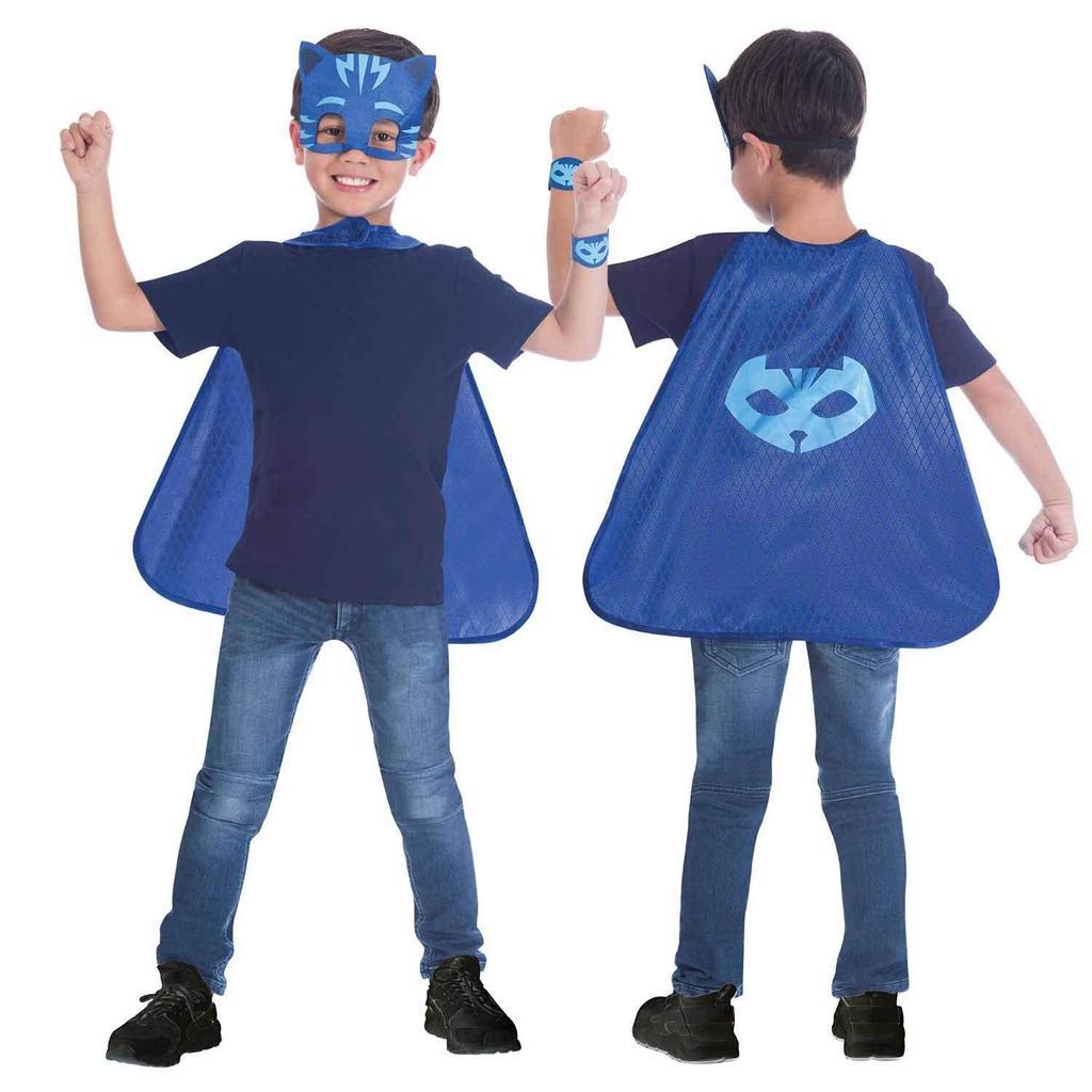 Amscan 9903736 PJ Catboy Mask And Cape Set Blue