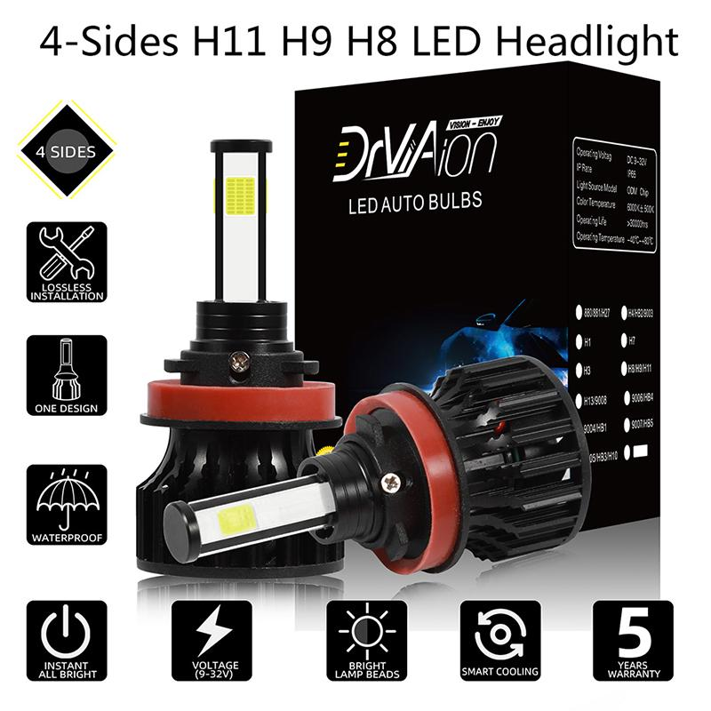 2x 6000K Xenon White  H16 Cree LED 12 SMD Fog Light 80W 6000LM Bulbs High Power