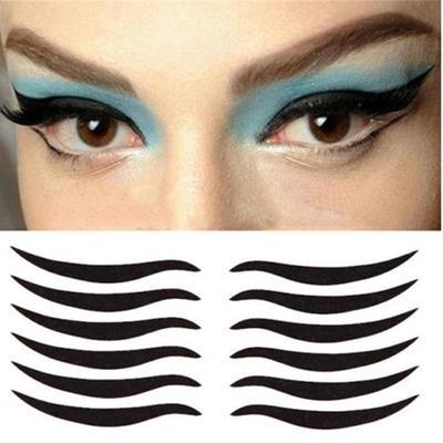 Black Eyes Sticker Large Cat Style Eyeliner Temporary Double