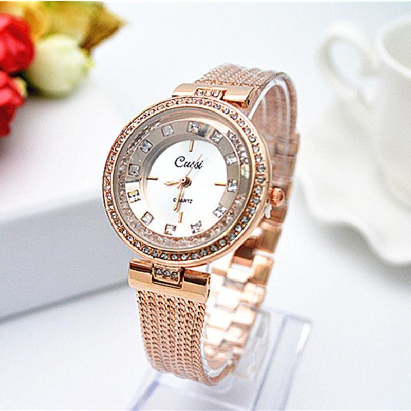 bb45f366518b Relojes CUSSI marca oro rosa pulsera reloj relojes lujo diamante de la mujer  - comprar a precios bajos en la tienda en línea Joom