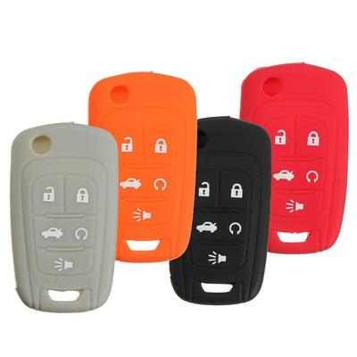 5 Button Silicone Remote Key Keyless Case Cover Protector For Chevrolet Camaro
