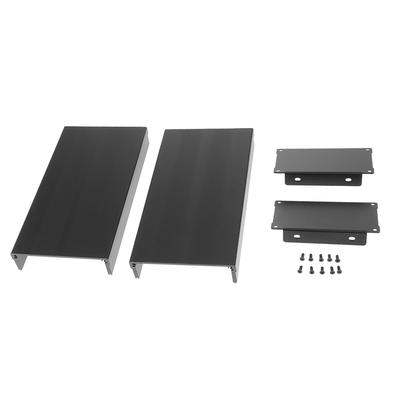 Extruded Aluminum Enclosure Cooling Flat Box Case DIY 105x55x150mm Silver