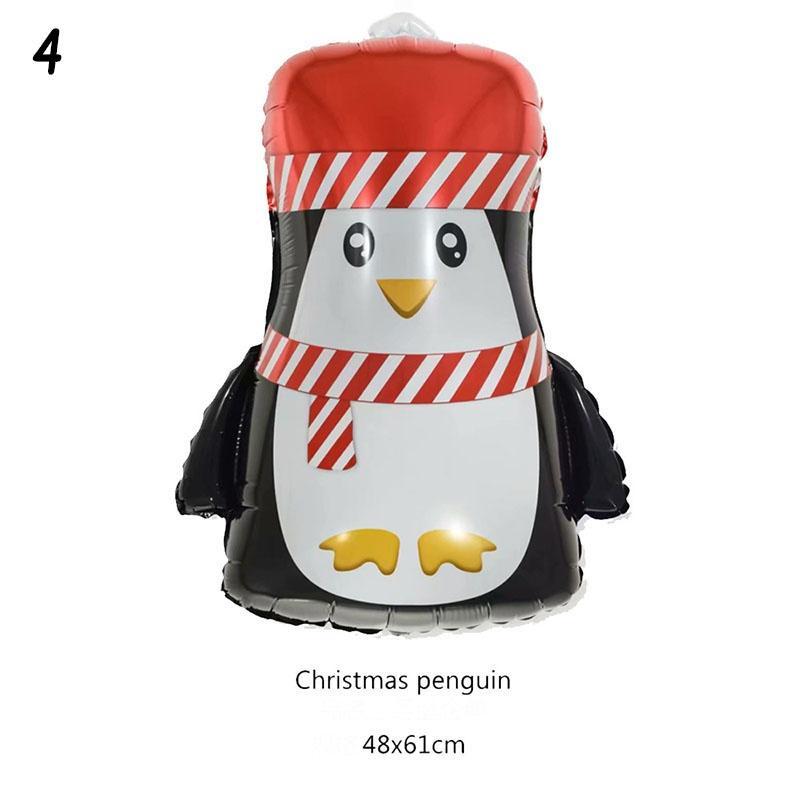 Christmas Aluminum Film Balloon Santa Claus Penguin Elk Balloons Xmas Decor #K