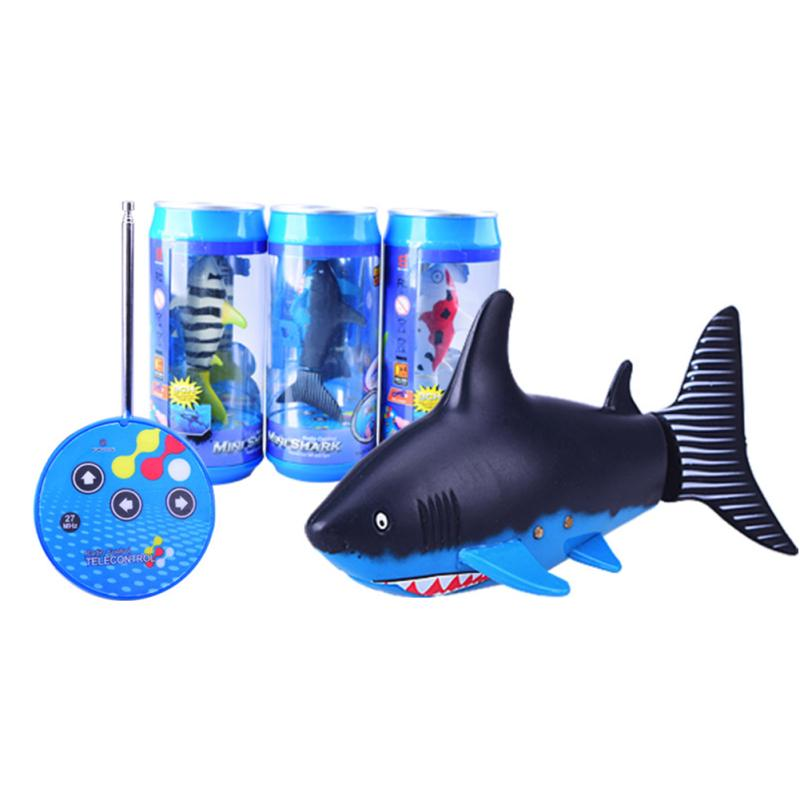 Remote Control Shark Electronic Toy Fish Mini Radio Boat for Kids Children