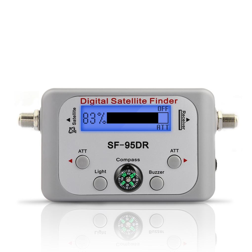 Lechnical Digitaler Satellitenfinder Satellitensignal Meter Mini Digitaler Satellitensignalfinder Meter mit LCD Display Digitaler Satfinder mit Kompass