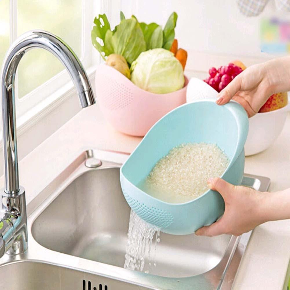 洗菜盆淘米器洗米筛漏塑料淘米盆篮厨房用品沥水篮洗菜篮子