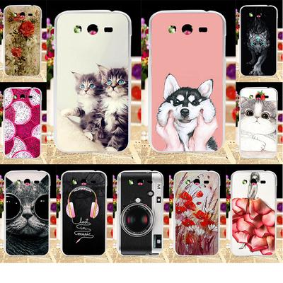 Akabeila Case for Samsung Galaxy Grand I9082 i9080 Grand Z I9082Z Grand Neo  Plus Silicon Pattern Bag