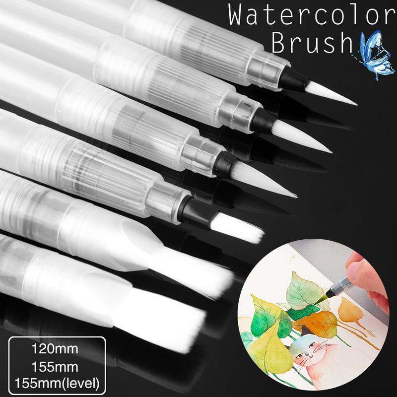 Портативный краски кисти воды цвет кисти карандаш мягкая Акварель кисти пера для начинающих живопись электрич фото