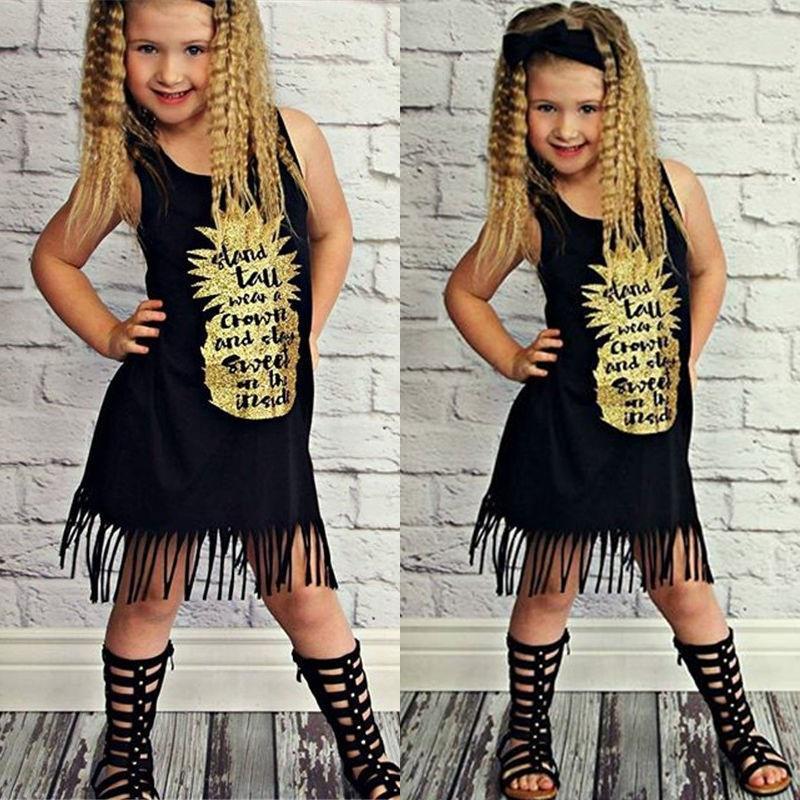 Kids Girl Strap Plait knee Dress Boat Neck 2 Years