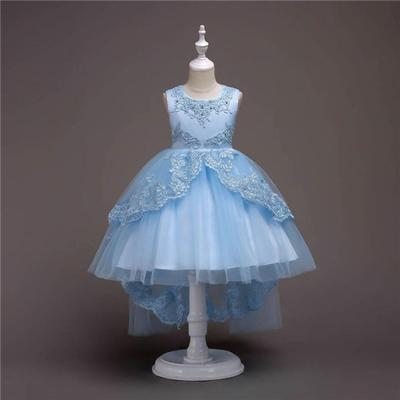 Toddler Baby Kid Flower Girls Bowknot Dress Birthday Party Wedding Pageant Gown