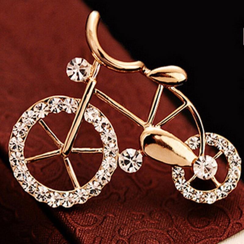 Брошь в виде велосипеда фото
