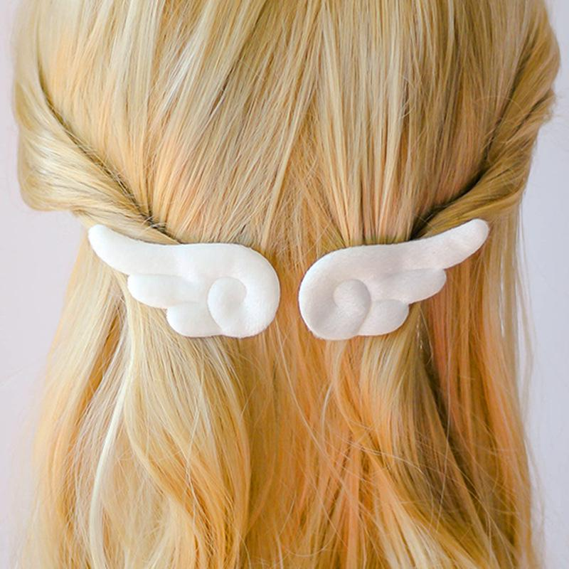 Metal Girls Alloy Hair Clip Angle Wings Barrettes Hairgrip Love Heart Clips