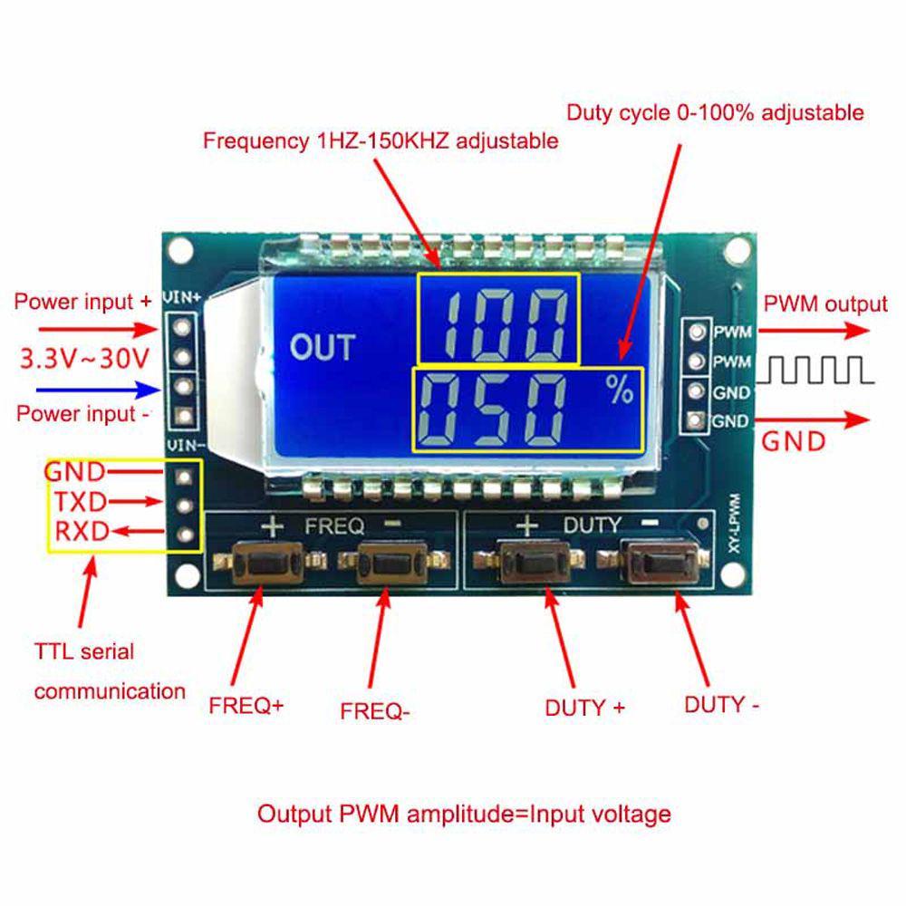Frecuencia de pulso nuevo ciclo de Trabajo Ajustable Módulo Onda generador de señal PWM ma