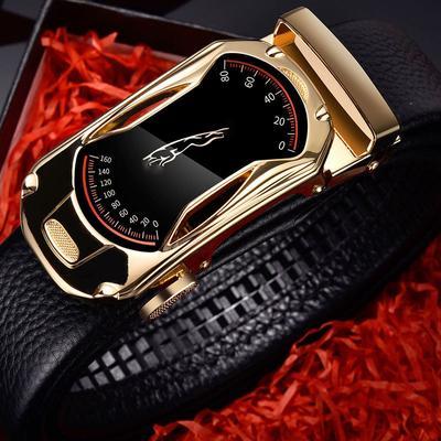 Automatic Buckle Men's Belt Leather Casual Men Genuine Leather Dress Belt