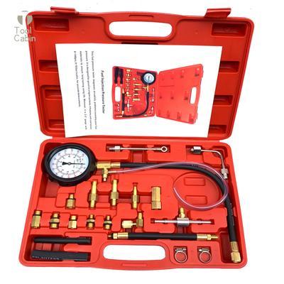 140 PSI Gasoline Fuel Injection Pump Pressure Gauge Tester Test Tool Kit