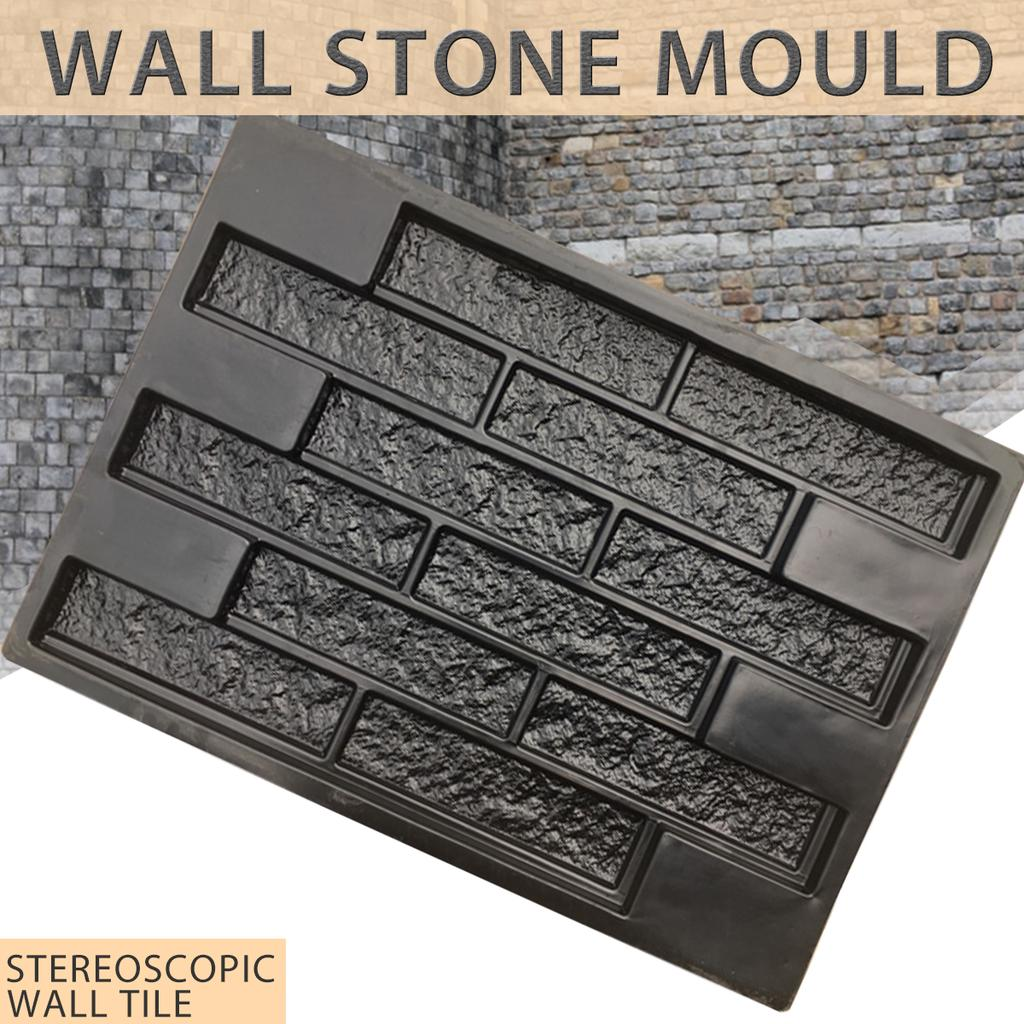 Plastic Molds Garden And Home Decorations Stone Wall Plaster Mold For Concrete