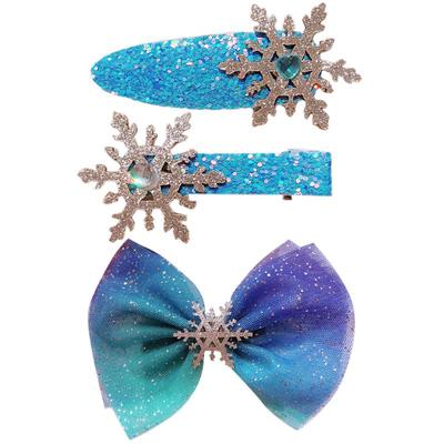 Girls Shiny Bow Metallic Sleepies Hair Clips Hair Slides Wedding Christmas Xmas