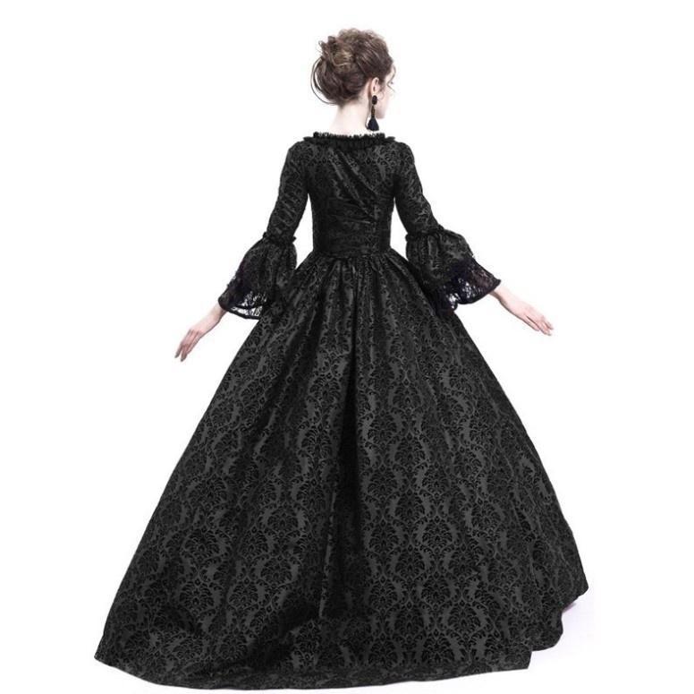 WomenS Victorian Gothic Lace Dress Steampunk Corset Lolita Retro A Line Dress