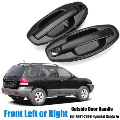 8Pcs Exterior Interior Door Handle Set Black For 2000 2006 Hyundai Verna Accent
