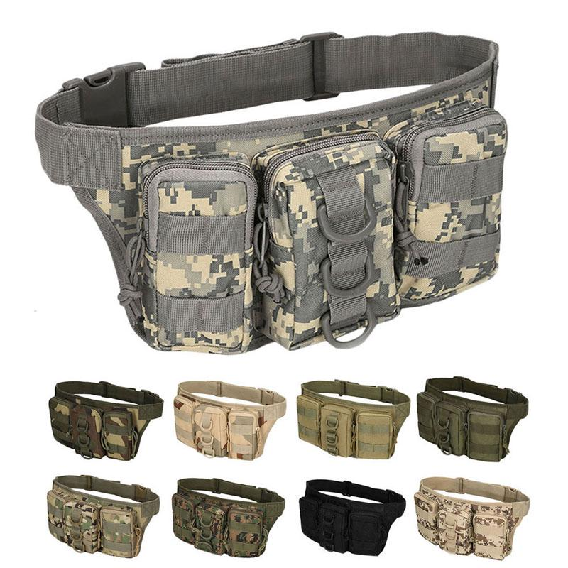 Military Hunting Outdoor Tactical  Bag Waist Belt Utility Mens Pack Bag Pouch Q