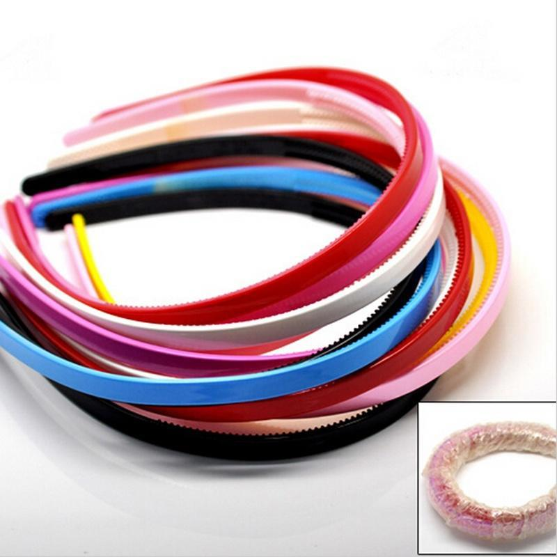 Random Color Plastic Hairbands Simple Hair Accessory Teeth Headbands Hair BN