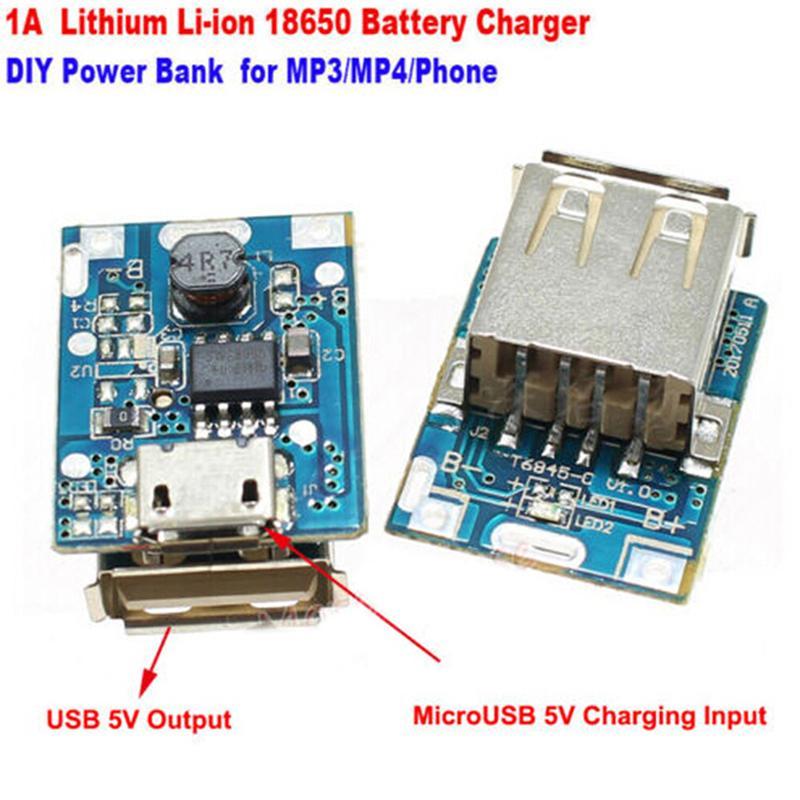 2pcs Micro Usb 5v Li Ion 18650 Battery