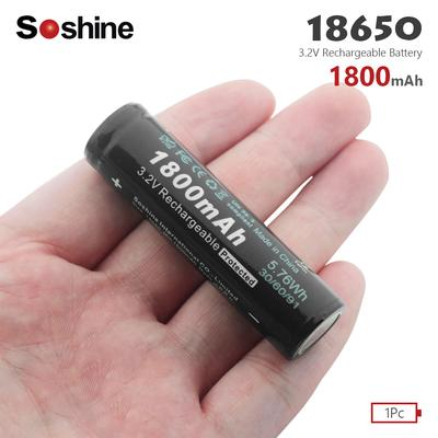 4x 2500mAh TR14500 3.7V Rechargeable Li-ion Battery for Flashlight Torch FG