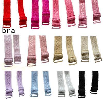 f21d0c9310 Women Underwear Shoulder Straps Floral Print Elastic Brassiere Strap  Lingerie