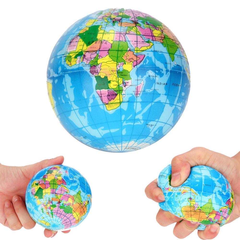 1шт стресс рельефные карты глобус Palm земли мяч фото