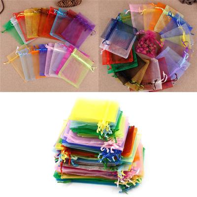10 Pcs 13 x 18cm Rectangle Golden Organza Bags for Jewellery Storage Wedding Favor Gift Candy Packing NBEADS Organza Bags