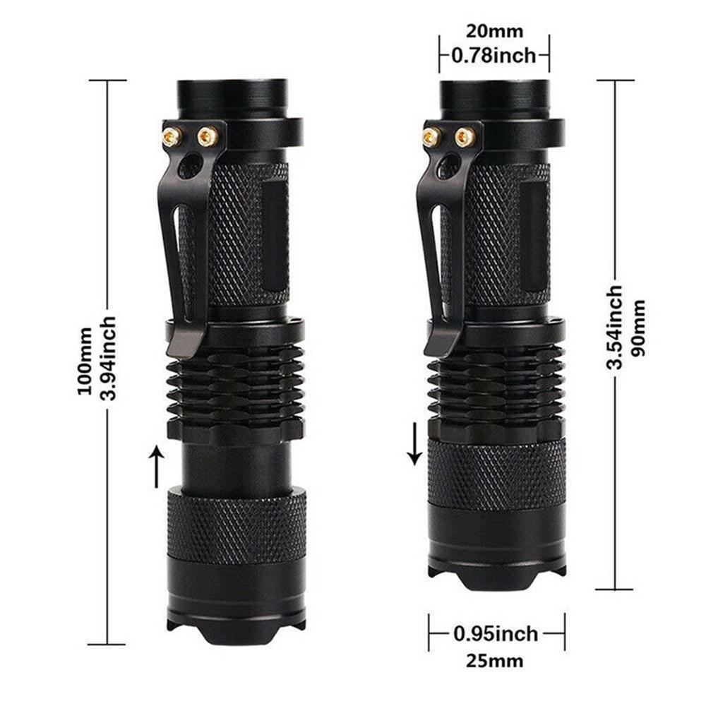 UV LED Ultra Violet Blacklight Light Flashlight Lamp Mini Torch 395//365 nM