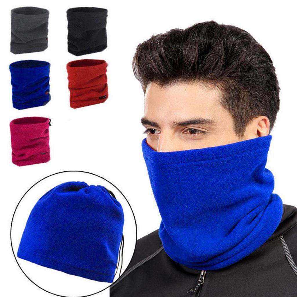 Windproof Polar Fleece Thermal Neck Warmer Beanie Hat Winter Sports Face Mask Snood Hood Hat Scarf