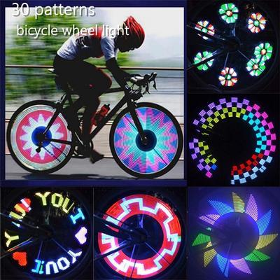 Waterproof Colorful LED Bicycle Lights Bike Lamp Cycling Sport Wheel Spoke Light