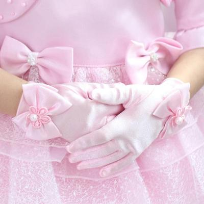 Mother & Kids Girls' Baby Clothing Fast Deliver Children Kids Girls Elbow Pageant Dance Birthday Party Gloves Wedding Gloves Choice Materials