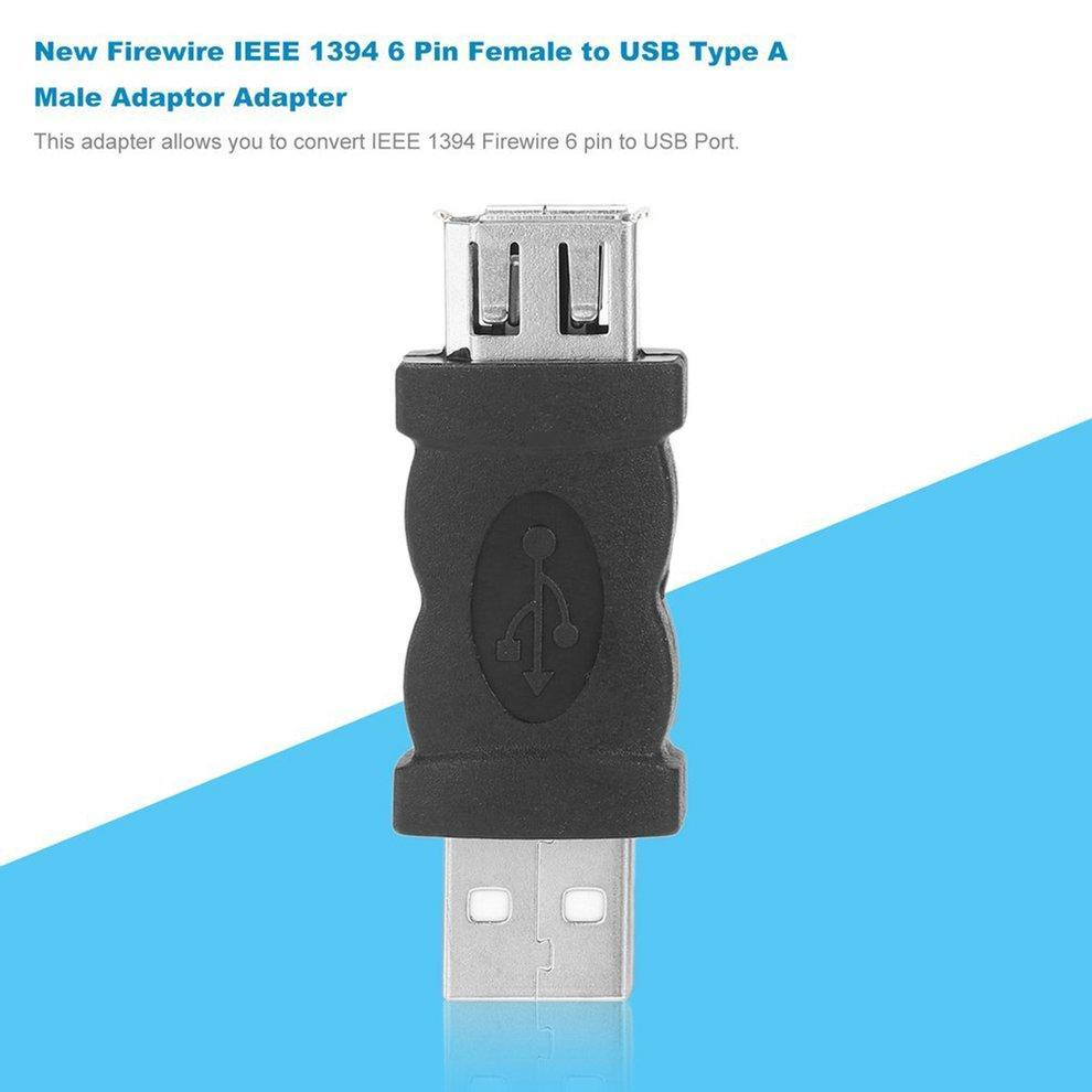 New Firewire IEEE 1394 6 Pin Female to USB Type A Male Adaptor ...