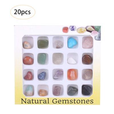 pour Enfants Mini Poli Pierres Précieuses Rock Géologie Kit Mini Gemme Boîte