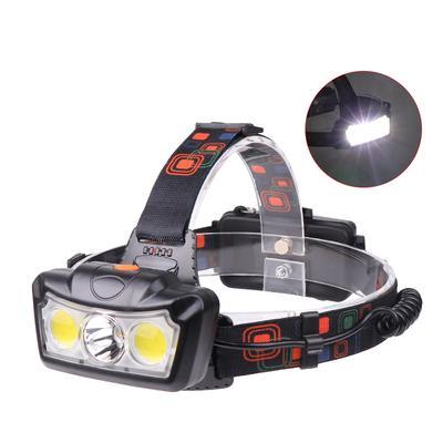 Headlamp 3W COB Headlight Flashlight Hiking Fishing Camping Outdoor Lighting UK