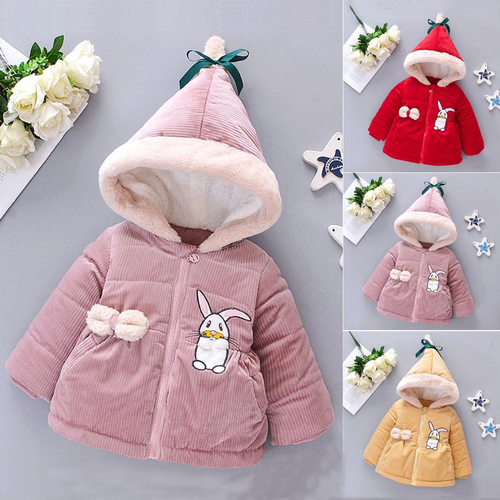 Baby Boy Girl Winter Coats Jacket Thick Ears Snowsuit Hoodie O-Neck Clothes Coat