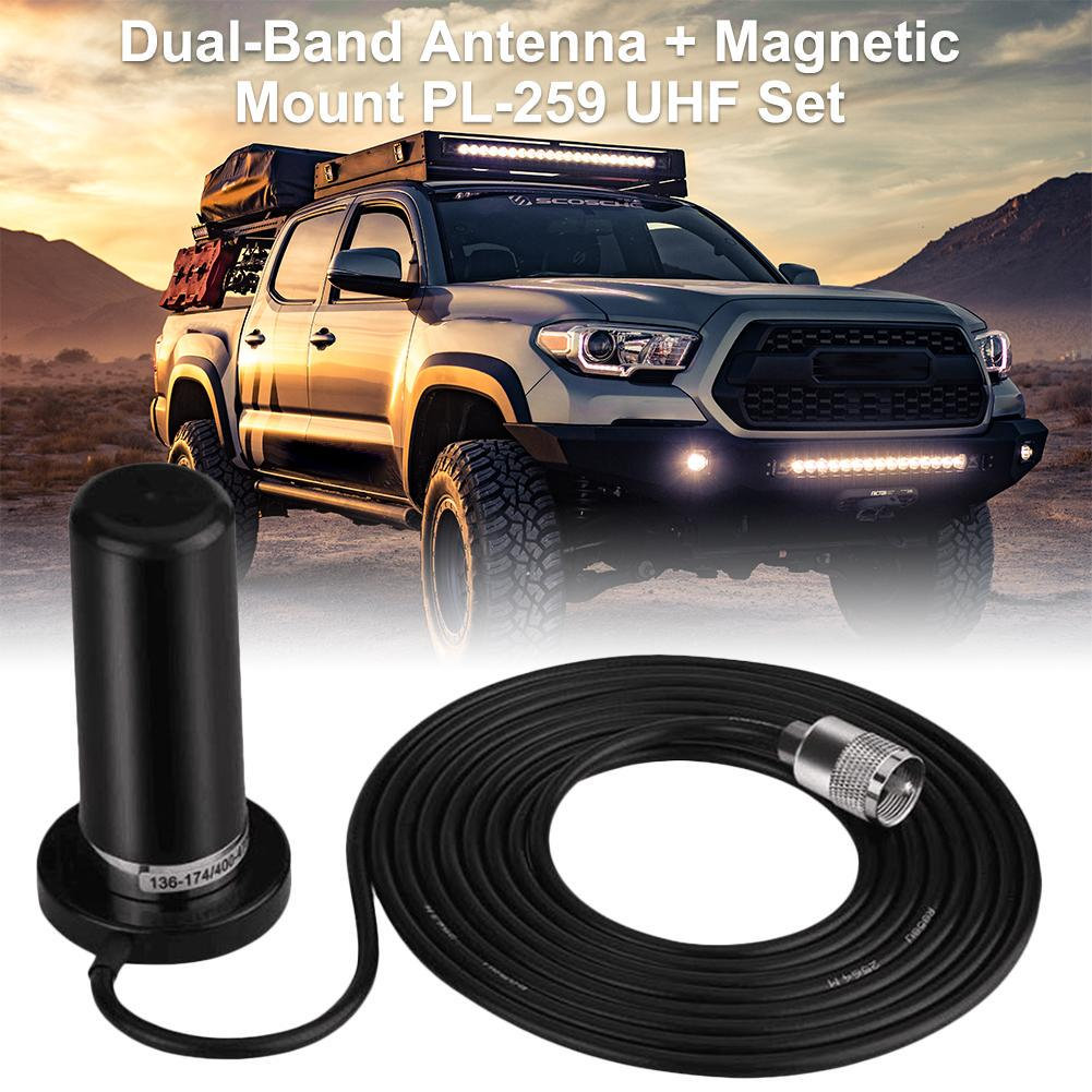 Short Dual Band UHF//VHF Antenna Aerial HH-N2RS PL-259 for Car Mobile Radio
