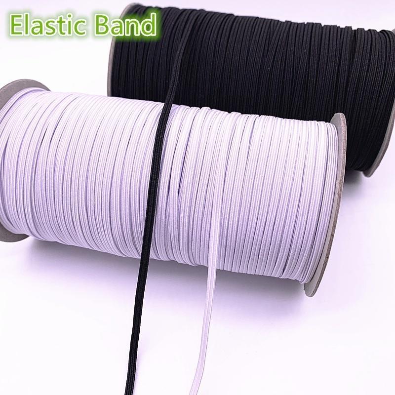 3//5//6mm 5 Yards Elastic Bands Spool Sewing Band Flat Elastic Cord Trim