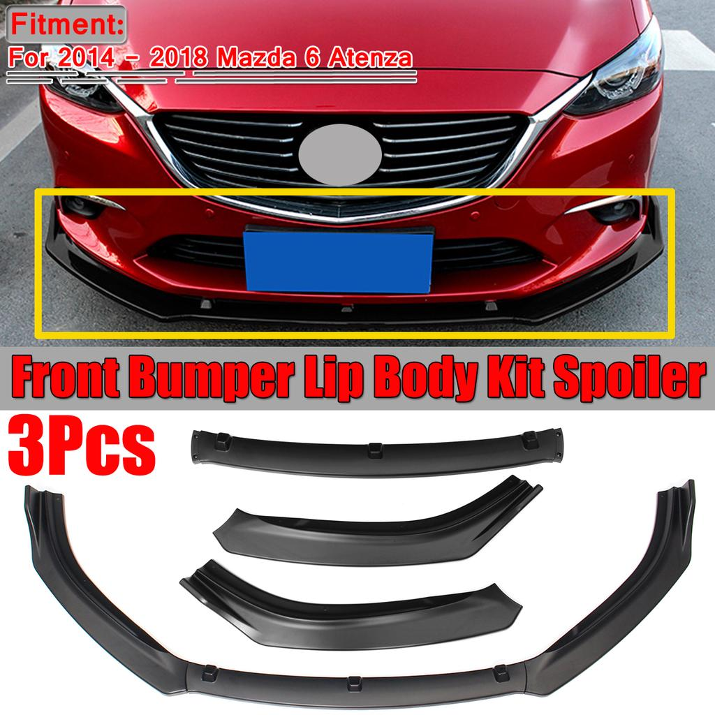 1 Set Front Bumper Lip Body Kit Spoiler Abs Matte Black For Mazda 6 Atenza 2014 2018 Buy At A Low Prices On Joom E Commerce Platform