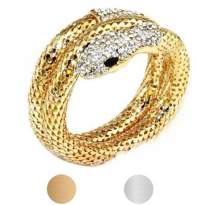 Fashion Punk Curved Stretch Snake Cuff Bangle Bracelet