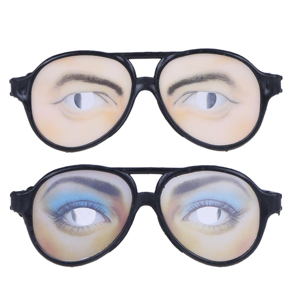 Funny Gift Halloween Fancy Costume Eyes Disguise JokeGlasses Trick Party Toy Hot