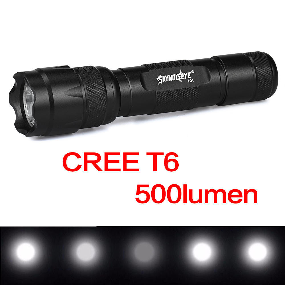 Skywolfeye 3000Lm Zoomable LED Flashlight Torch Super Bright Light Green TR