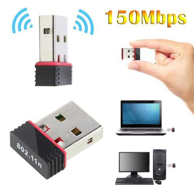 EXTRA SMALL 150Mbps USB 2.0 WiFi Wireless Adapter Network LAN Card 802.11