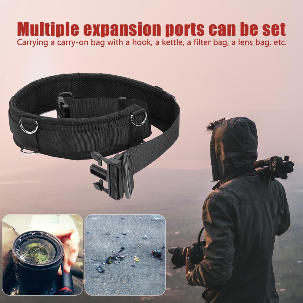 Camera Accessory Multi-Functional Bundle Waistband Strap Belt with Hook for SLR//DSLR Cameras Camera /& Camcorder Strap