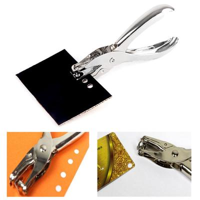 Metal Single Hole Puncher Hand Paper Punch Single Hole Scrapbooking Punches 8 Pages All